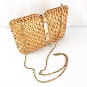 Vtg Rodo Italian Basket Weave Shoulder Bag Purse